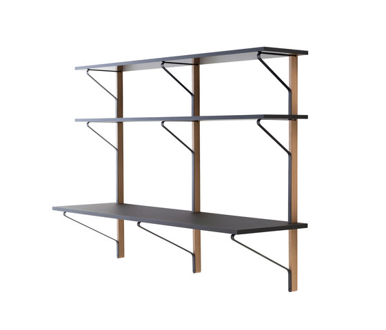 Kaari REB0010 Shelve With Desk by Artek | Wall shelves