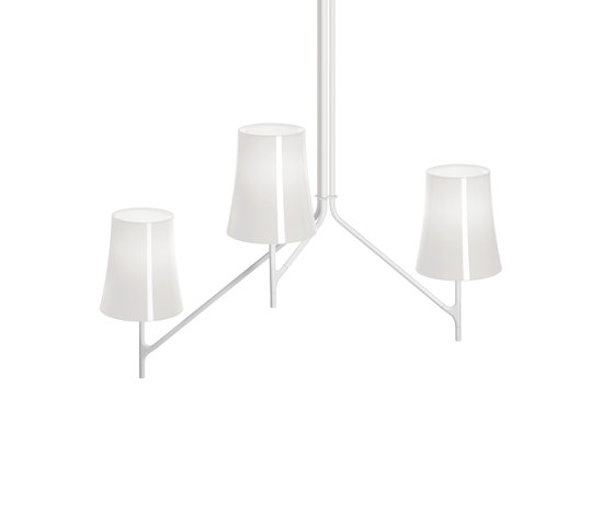 Birdie 3 ceiling white by Foscarini | General lighting