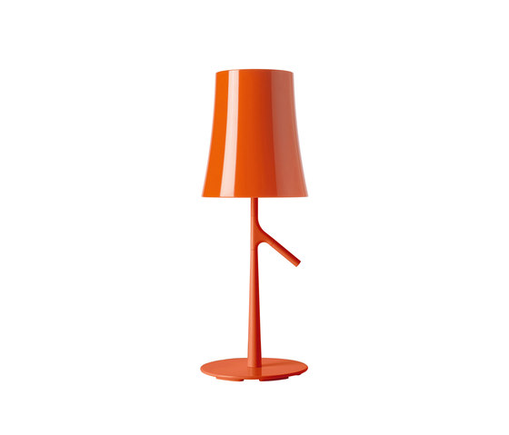 Birdie table small orange de Foscarini | Luminaires de table