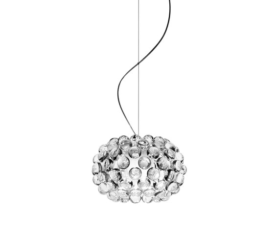 Caboche suspension small transparent by Foscarini | Suspended lights