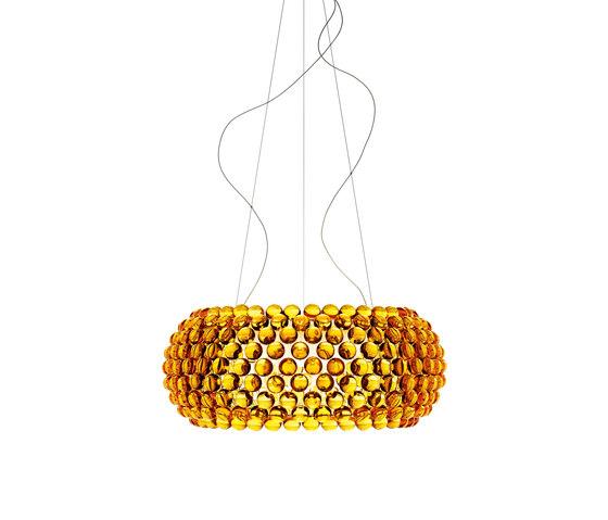 Caboche Pendelleuchte gross LED goldgelb von Foscarini | Allgemeinbeleuchtung