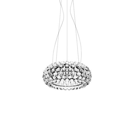 Caboche suspension medium LED transparent by Foscarini   Suspended lights