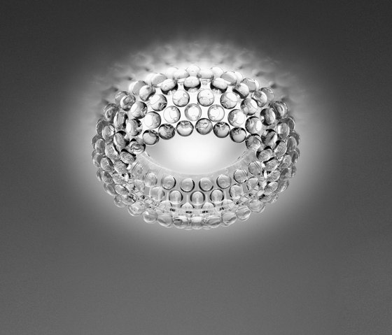 Caboche ceiling transparent by Foscarini | General lighting