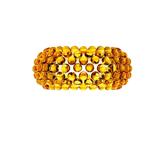 Caboche wall medium yellow-gold de Foscarini | Éclairage général