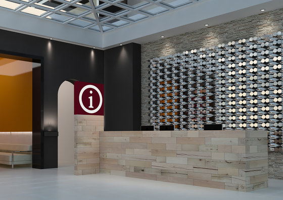 CRAFTWAND® - reception desk design de Craftwand | Comptoirs