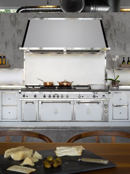 MILK WHITE & SATIN NICKEL KITCHEN by Officine Gullo | Fitted kitchens