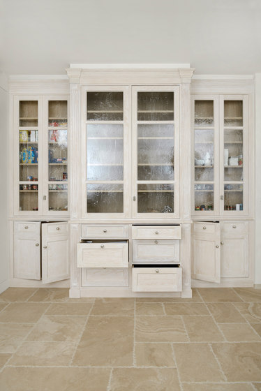 PEARL WHITE & POLISHED CHROME KITCHEN by Officine Gullo | Fitted kitchens
