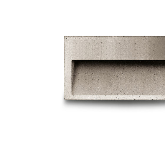 Concrete wall by Simes | Outdoor recessed wall lights