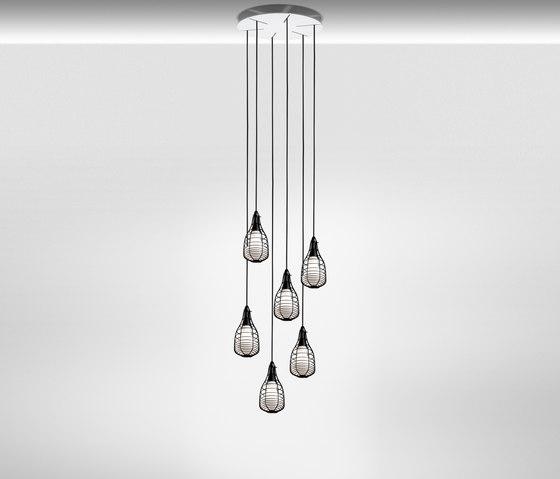 Cage Mic suspension multiple composition de Diesel by Foscarini | Éclairage général