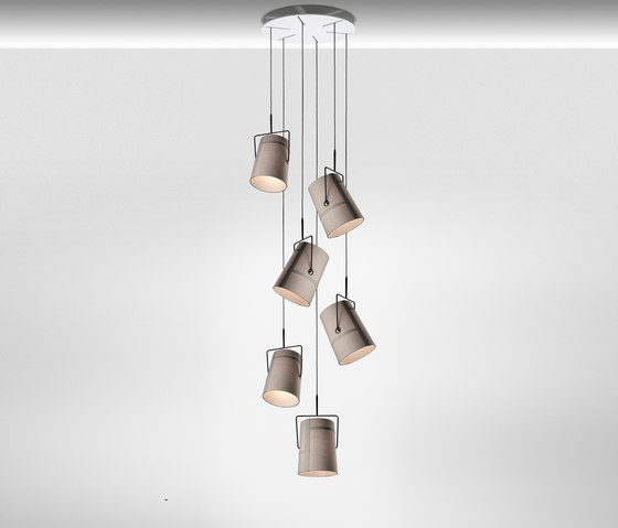 Fork suspension multiple composition de Diesel by Foscarini | Éclairage général