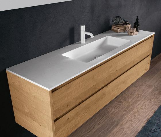 Flat waschtische von falper architonic for Badezimmer waschbecken modern