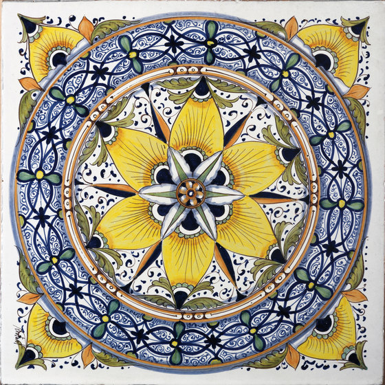 Decorated Tiles by Officine Gullo | Ceramic tiles