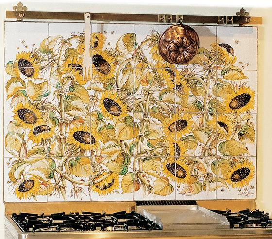 "Decorated Panel ""Girasoli"" by Officine Gullo | Ceramic tiles"