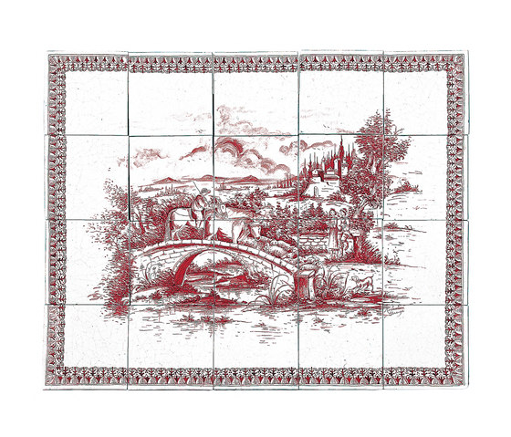 """Decorated Panel """"Incontro"""" by Officine Gullo 