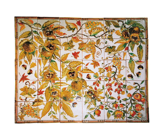 "Decorated Panel ""Autunno Toscano"" by Officine Gullo 