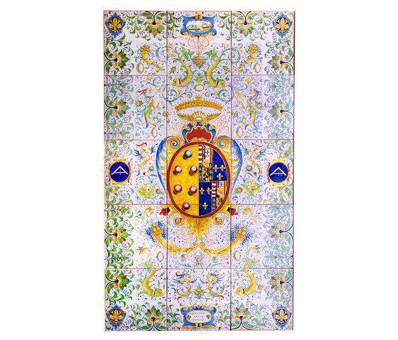 "Decorated Panel ""Arazzo Mediceo"" de Officine Gullo | Carrelage céramique"