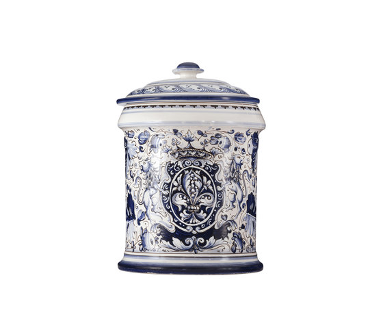 Decorated Majolica Jar by Officine Gullo | Storage boxes