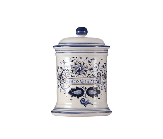 Decorated Majolica Jar de Officine Gullo | Boîtes de rangement