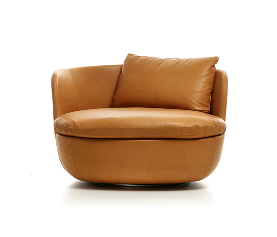 Bart by moooi swivel armchair armchair canape sofa - Canape cognac ...
