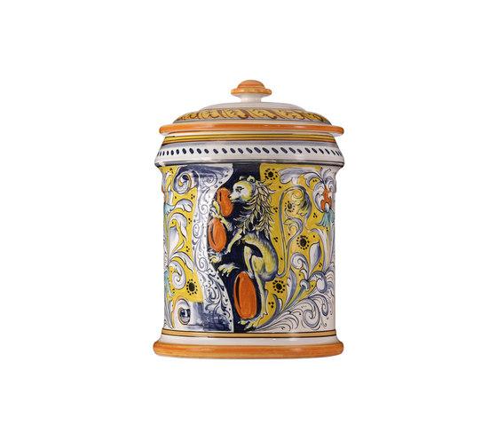 Decorated Majolica Jar de Officine Gullo   Boîtes de rangement