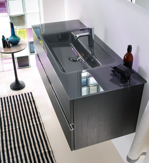 Bel | Glass washbasin incl. vanity unit by burgbad | Vanity units