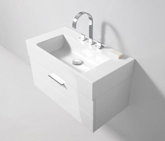 Crono | Mineral cast washbasin incl. vanity unit by burgbad | Vanity units