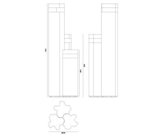 Logico Garden 3x120° von Artemide Architectural | Pollerleuchten