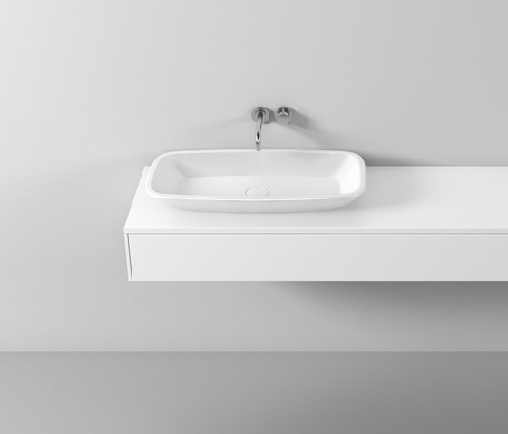 rc40 | Mineral cast washbasin sit on vessel di burgbad | Lavabi