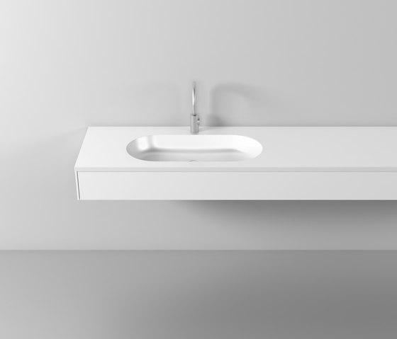 rc40 | Mineral cast plate di burgbad | Piani lavabo