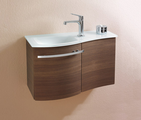 Sinea | Glass washbasin incl. vanity unit by burgbad | Vanity units