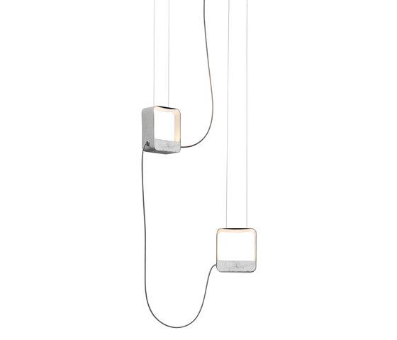 Eau de lumière Suspension 2 Petit Carré de designheure | Éclairage général