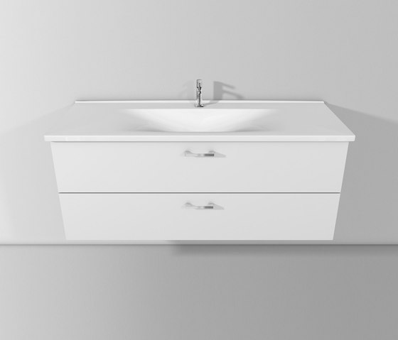Sys30 | Ceramic washbasin incl. vanity unit by burgbad | Vanity units