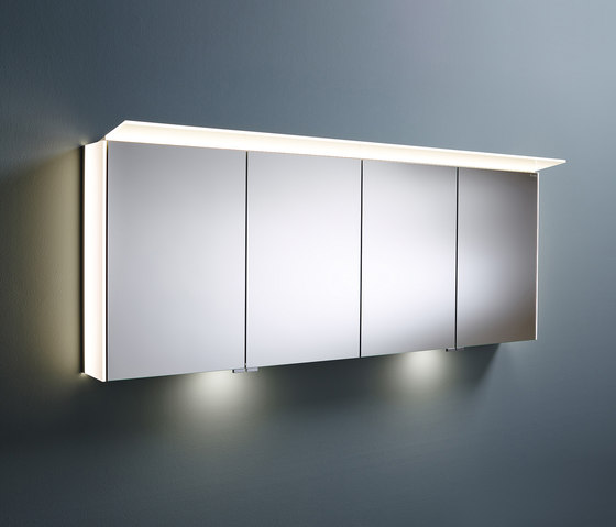 Sys30 | Mirror cabinet with lateral LED illumination incl. indirect lighting of washbasin di burgbad | Armadietti specchio