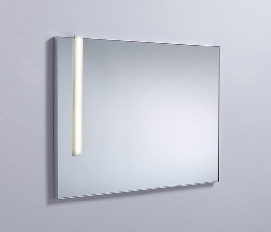 Sys30 | Illuminated mirror with vertical LED-light by burgbad | Bath mirrors