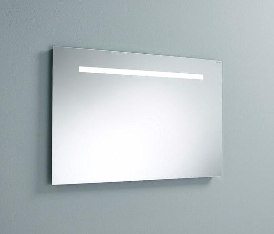 Sys30 | Illuminated mirror with horizontal LED-light by burgbad | Bath mirrors
