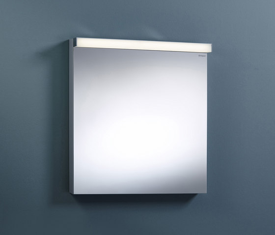 Sys30 | Illuminated mirror with horizontal LED-light by burgbad | Bath mirrors