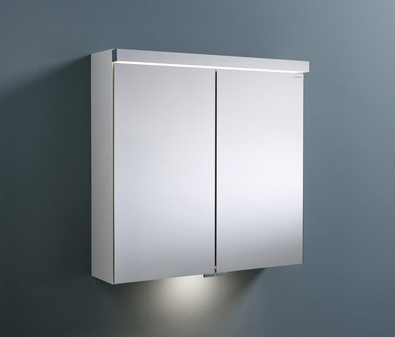 Sys30 | Mirror cabinet with LED-lighting and indirect lighting of washbasin by burgbad | Wall cabinets