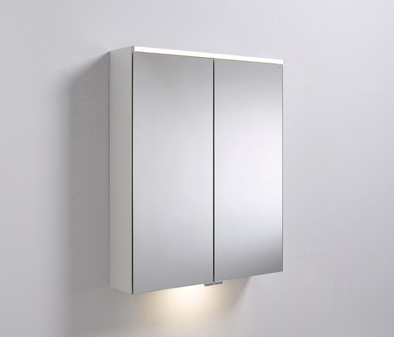 Sys30 | Mirror cabinet with horizontal lighting and indirect lighting of washbasin di burgbad | Armadietti parete