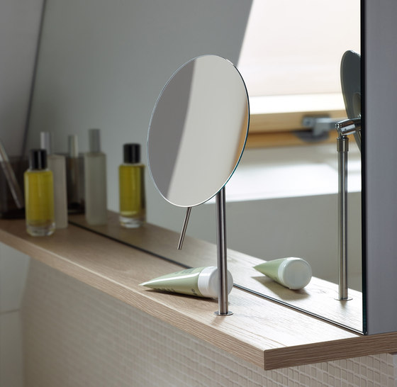 Sys30 | Wall rack incl. magnifying mirror by burgbad | Bath shelves