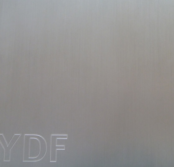 Finiture Brushed Aluminum by YDF | Metal sheets