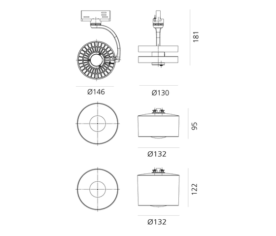 Cata Catdioptric Ceiling di Artemide Architectural | Lampade plafoniere