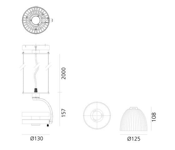 Cata Wide Suspension de Artemide Architectural   Spots
