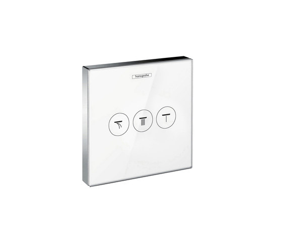 hansgrohe ShowerSelect Glas Thermostatic mixer for concealed installation for 2 outlets di Hansgrohe | Rubinetteria doccia