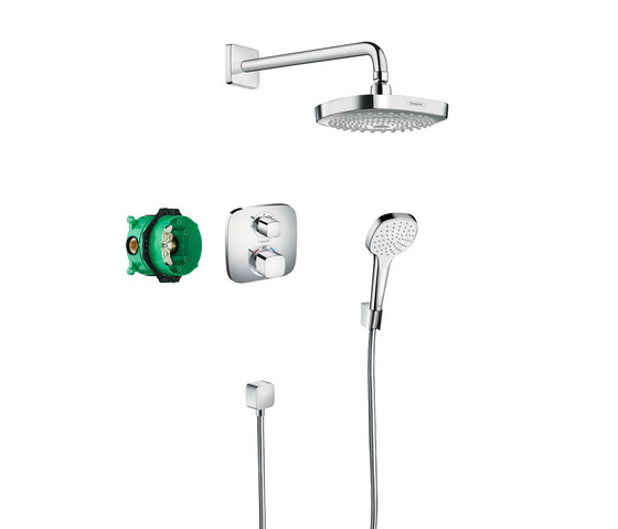 hansgrohe Design ShowerSet Croma Select E / Ecostat E by Hansgrohe | Shower controls
