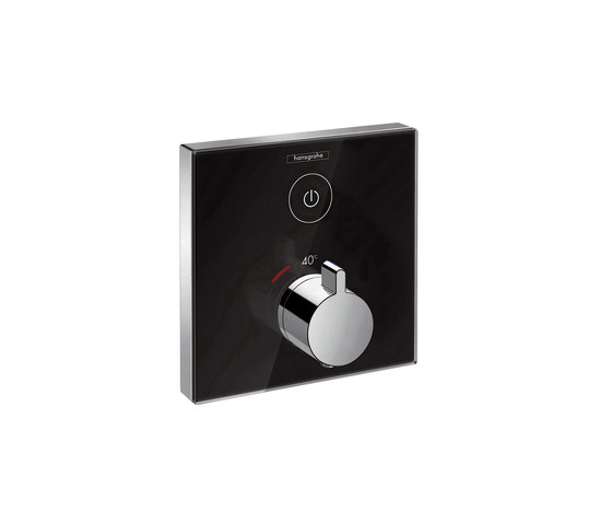 hansgrohe ShowerSelect Glas Thermostatic mixer for concealed installation for 1 outlet by Hansgrohe | Shower taps / mixers
