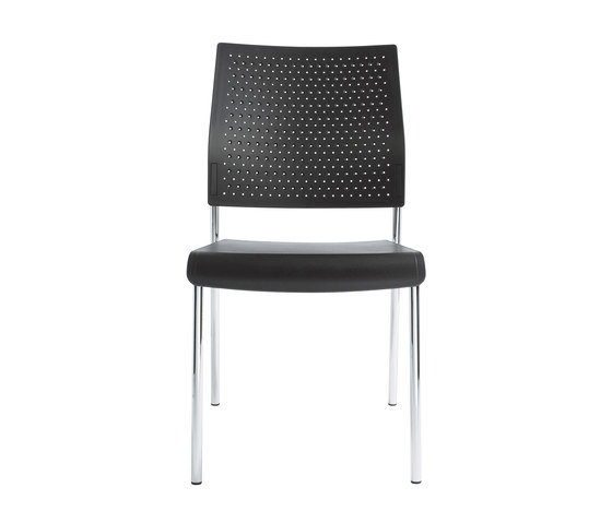 Qubo Four legged chair by viasit | Visitors chairs / Side chairs