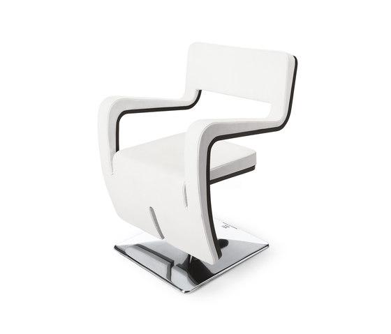 Tsu White | MG BROSS Styling Salon Chair by GAMMA & BROSS | Barber chairs