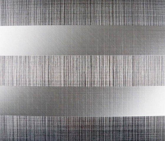 Stripe decor by inox schleiftechnik 840 product for Plaque decorative adhesive alu inox metal