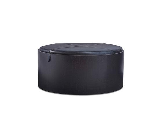 Stoll 90 – Oak Stained with black calf leather cushion von Wildspirit | Behälter / Boxen
