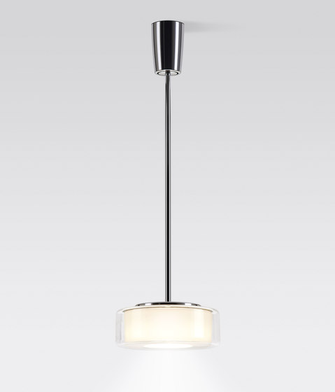 CURLING Suspension Tube | shade clear, reflector cylindrical opal by serien.lighting | Suspended lights